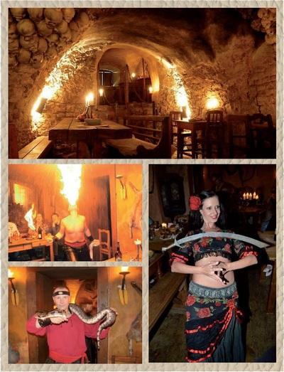 средневековое шоу в праге