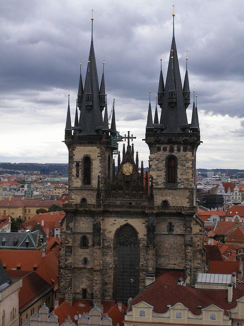 Тынский храм Прага Чехия