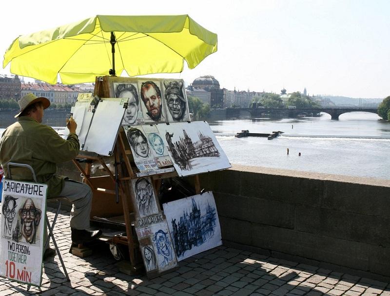 карло мост художники